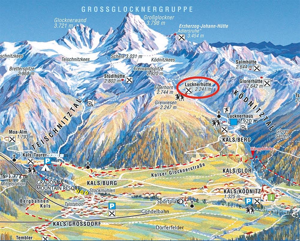 Großglockner Karte.Luckernhuette2017 Flyer Karte Home Lucknerhütte Lucknerhof